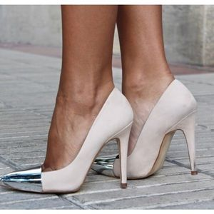 Zara metal toe pumps